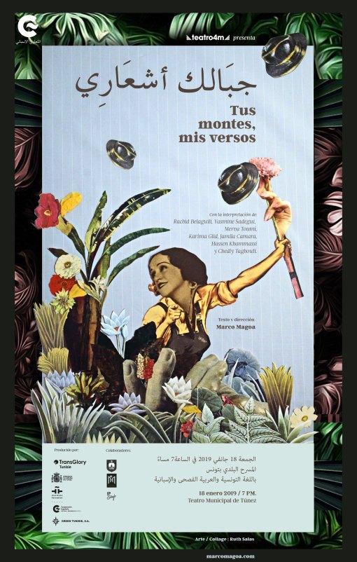 Poster Tus montes, mis versos. Marco Magoa. baja